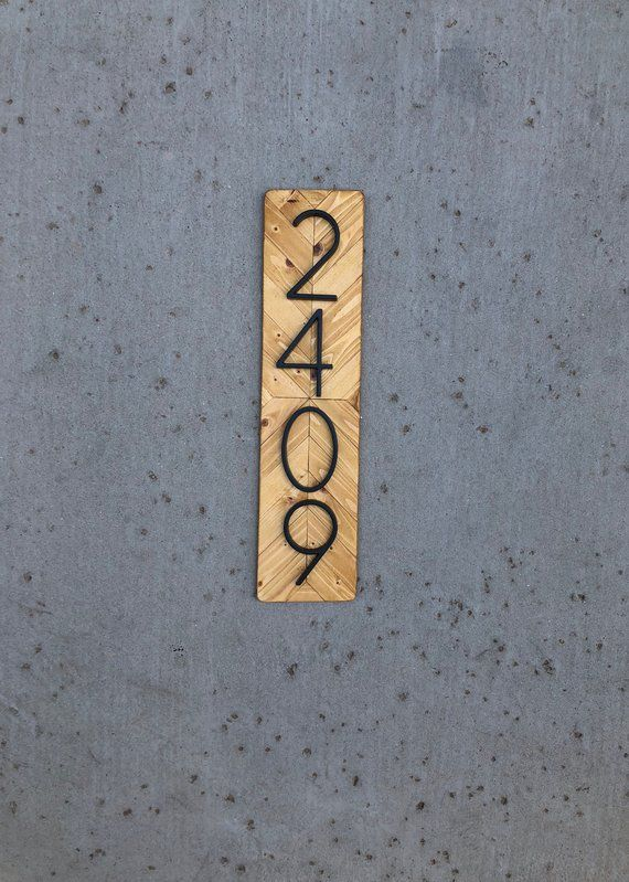 House Number Plaque Vertical Vertical House Numbers House Number Sign Housewarming Gift Address Sign Vertical In 2020 House Numbers House Number Plaque House Warming