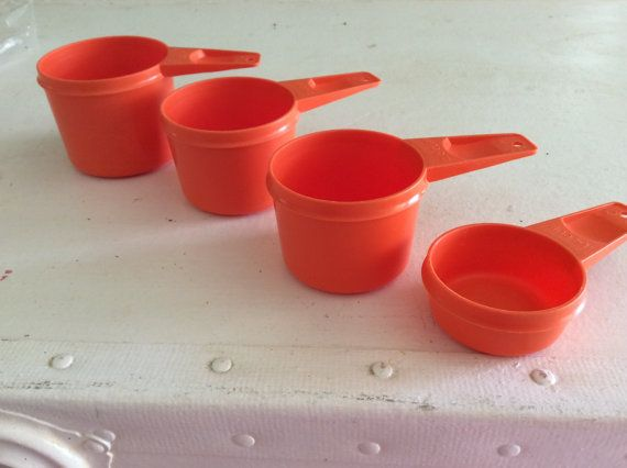 Mom... Hey, I found this really awesome Etsy listing at https://www.etsy.com/listing/242766633/vintagetupperware-measuring-cups-orange