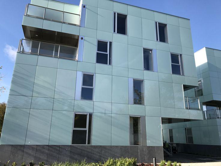 Rainscreen cladding system airtec glass multi-faceted design