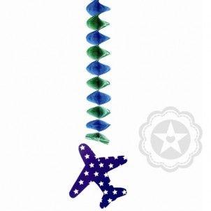 3x verticale slinger vliegtuig - Thema 'Vliegtuig' - Verjaardag decoratie - Het is feest!