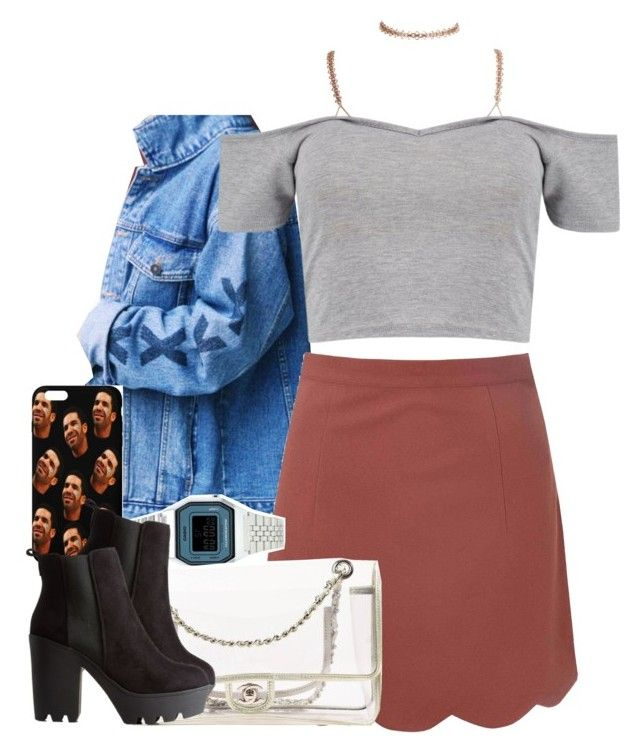 """""""Untitled #1009"""" by cjasmyne ❤ liked on Polyvore featuring Boohoo, Glamorous, Topshop, Chanel and Charlotte Russe"""