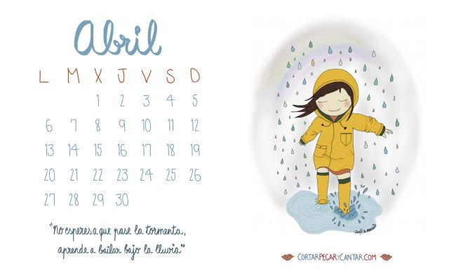 Calendario abril 2015 craft&music