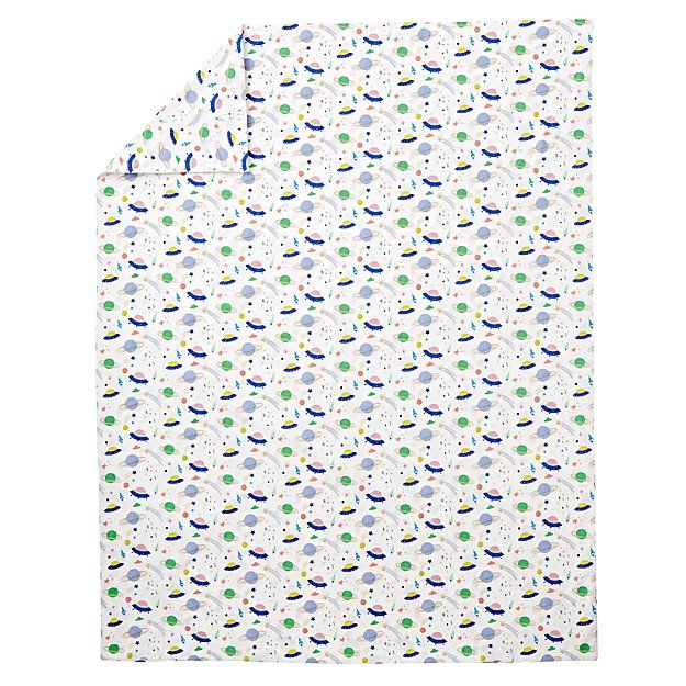Organic Out of this World Space Twin Duvet Cover   The Land of Nod