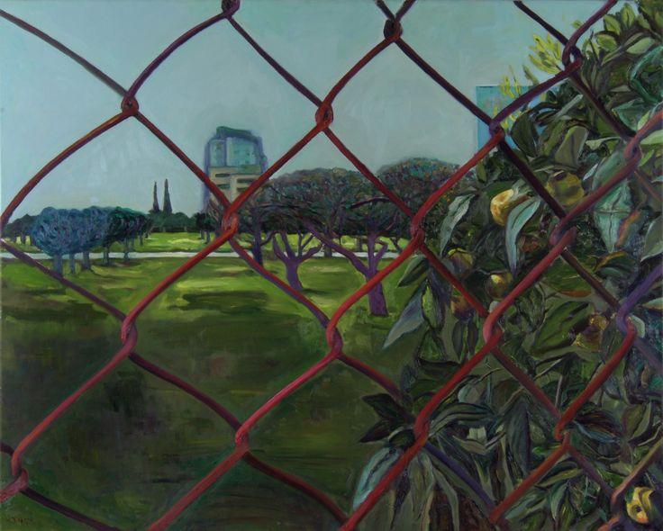 Ο κήπος στη Φραγκοκλησσιάς / Fragoklissias΄garden λάδι σε καμβά / oil on canvas 100.0*79.5*1.0  cm