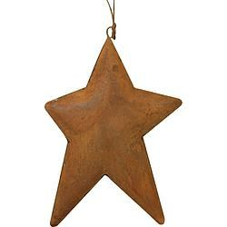 "Rusty 3D Puff Tin Star 5"" - $5.99"