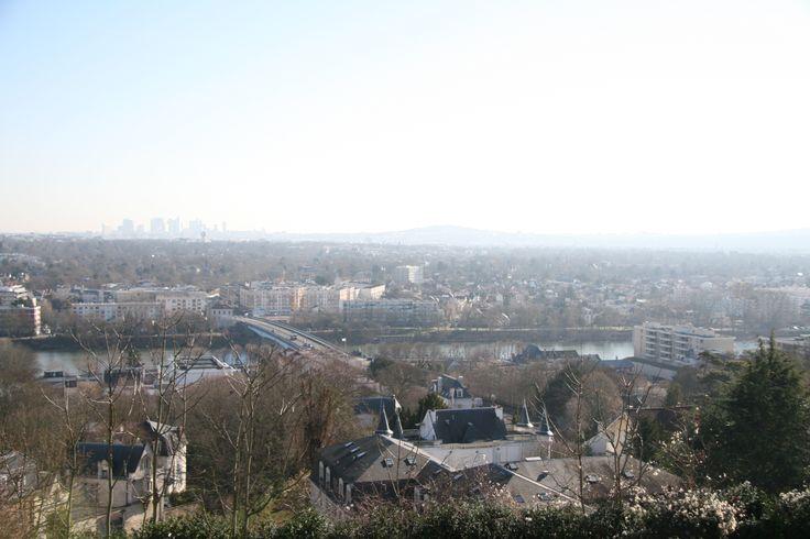 Vue de la petite terrasse sur l'ouest de Paris. (C) MAN