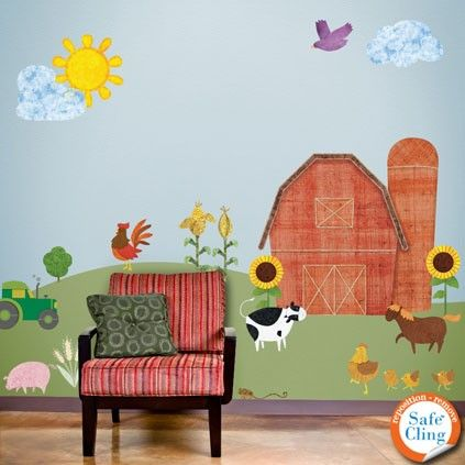 Wall Stickers Farm Theme Decals for Boys Room by MyWallStickers, $166.99