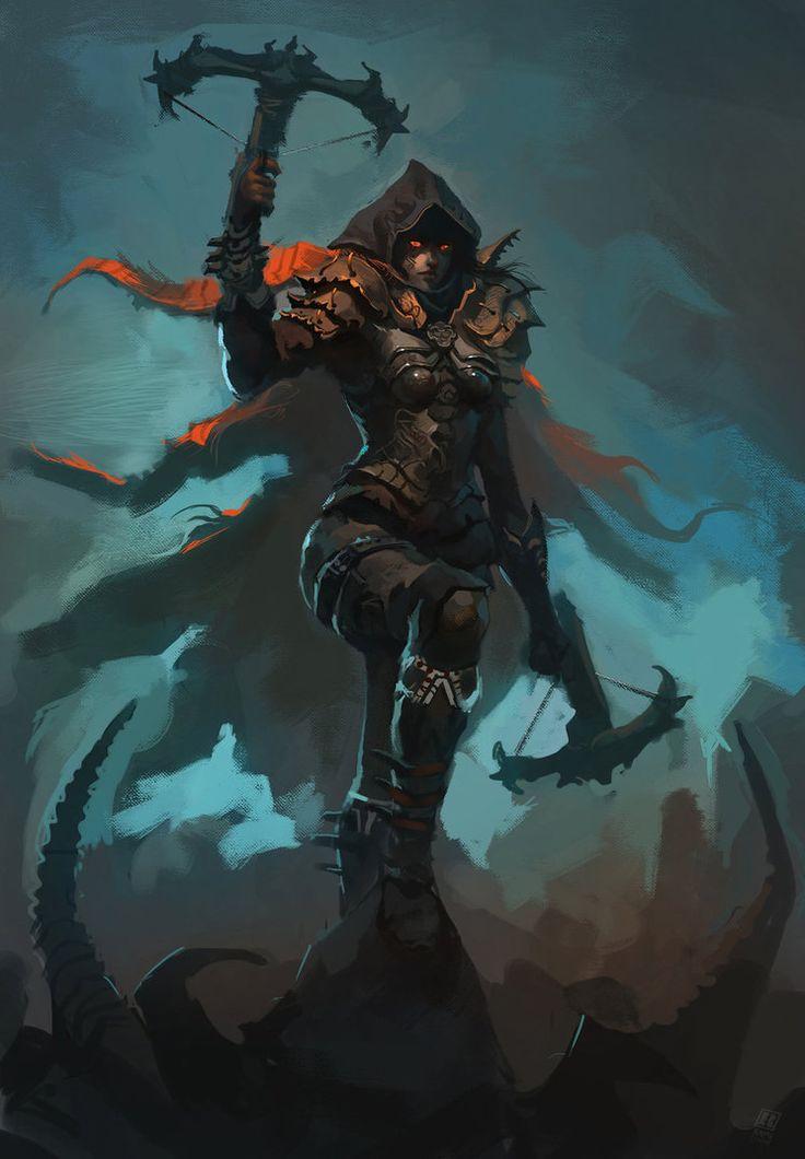 Diablo III: Demon Hunter - Created by Raph04art