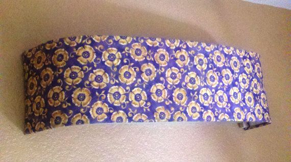 Goldenrod Floral on Purple - Lamp Shade - Custom Lamp shade - Fabric Lamp Shade- Vanity light covers - Bathroom decor - Vanity Lighting