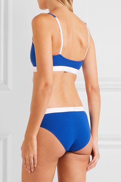 Calvin Klein Underwear - Ck One Stretch-cotton Jersey Soft-cup Bra - Bright blue -
