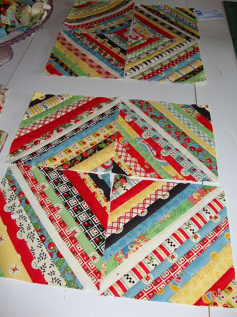 string quilt blocks -Mary Engelbreit fabric. Love this pattern