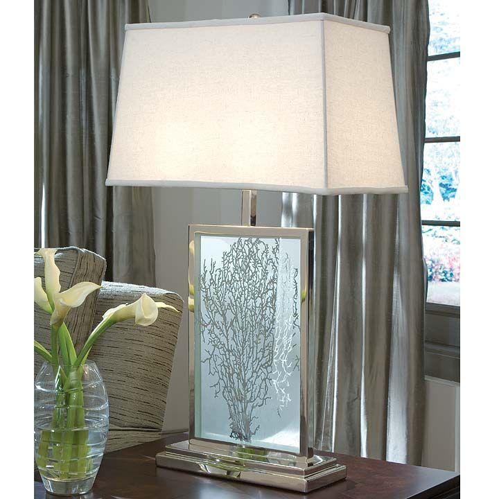 Etched Sea Fan Lamp