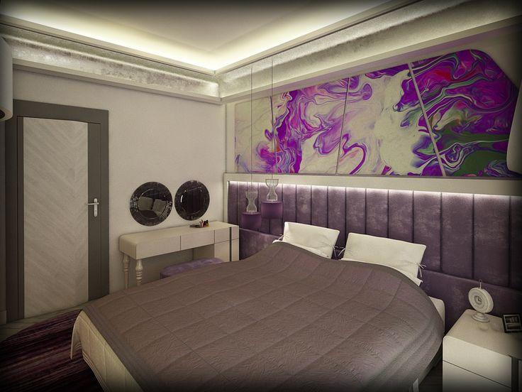 yaşam alanı yatak odası