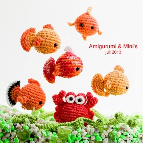 Fancy Goldfish Amigurumi By Kate Wood : 17 meilleures images ? propos de Animals - fish and etc ...