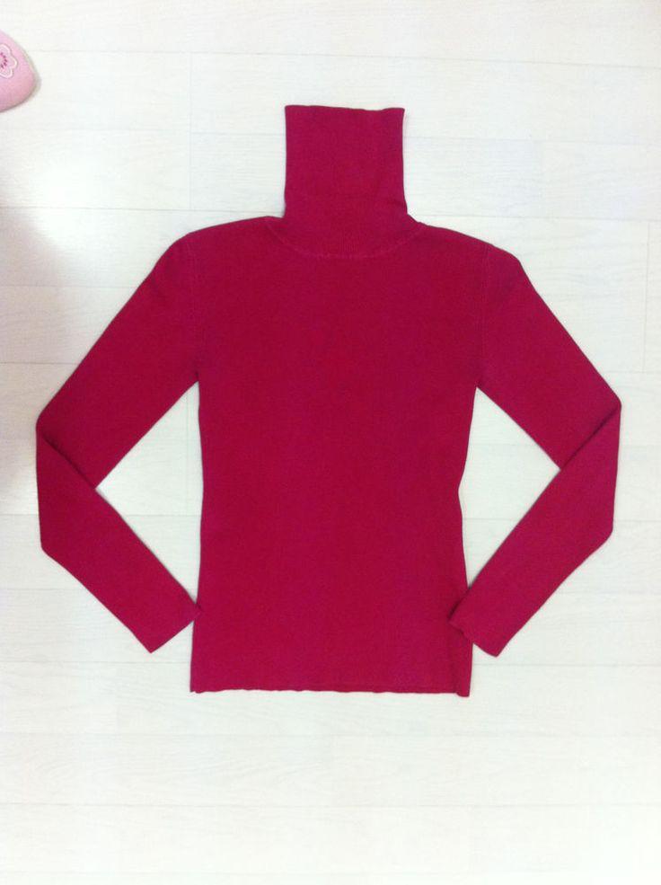 H&M Madder Carmen Polo-Neck Jumper. Ladies UK Size M. Excellent Condition.GAN.