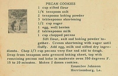 Roots from the Bayou : Family Recipe Friday - Pecan Cookies #genealogy #familyhistory