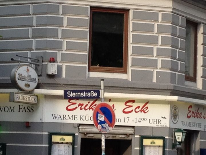 Popular Erika us Eck is a place for taxi drivers and all kinds of stranded people to have