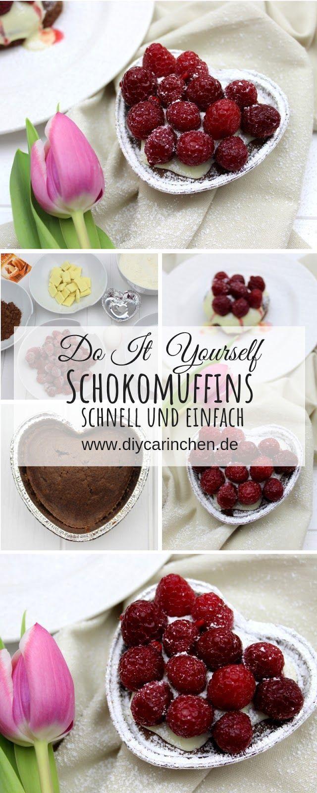 Rezept: Schokomuffin mit einem Topping aus Himbeeren und weißer Schokolade – perfekt für den Muttertag oder Valentinstag