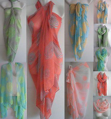 Sexy Women Pareo Dress Sarong Beach Bikini Swimwear Cover Up Long Scarf Wrap