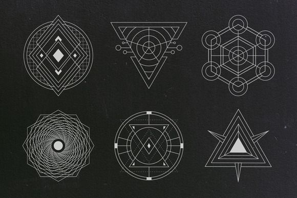 24 Sacred Geometry Vectors - Objects - 2