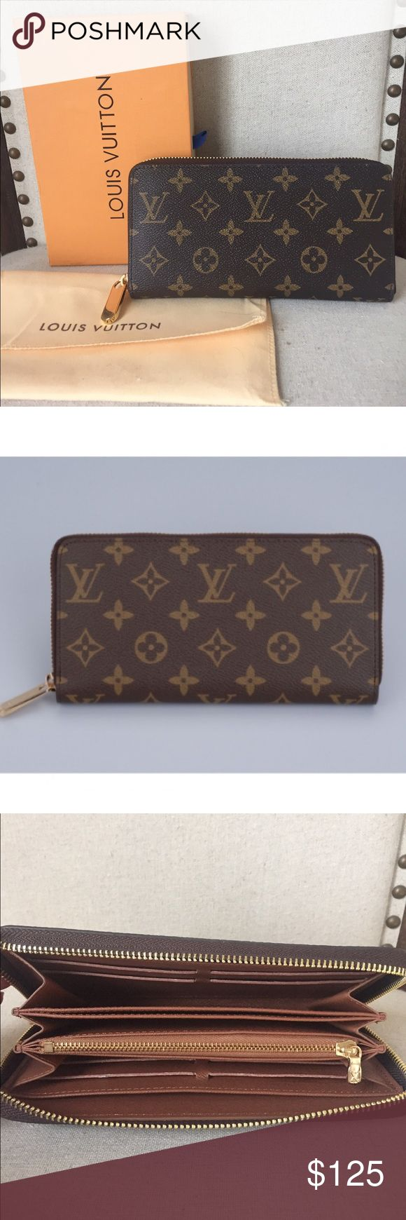 Louis Vuitton Zippy Wallet Beautifully appointed wallet in excellent like new condition. Only used twice. Classic LV Monogram Canvas exterior with zipper closure Interior: Leather lining with heat embossed Louis Vuitton Paris, Made in France stamp and product code Pockets: A flat zipper pocket, an open flat pocket and three open flap compartments plus card slots in the interior. Date code ZH17014.  Comes with box and dust bag. Price reflects auth. Thanks for looking and OPEN to offers! Louis…