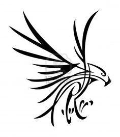abstract falcon tattoo designs native american - Google Search