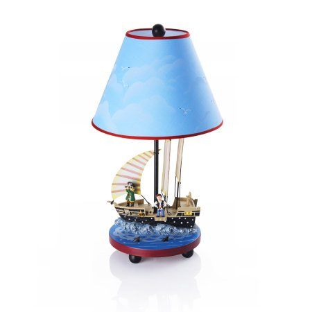 Pirate Table Lamp Multicolor Table Lamp Painting Lamps Kids Room