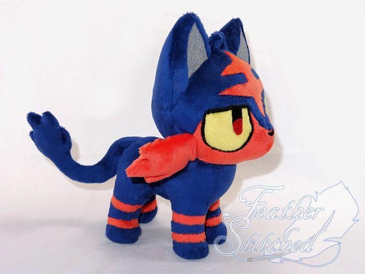 OOAK Pokemon Chibi Litten Plush Nyabby in Toys & Games, TV & Film Character Toys, TV Characters   eBay