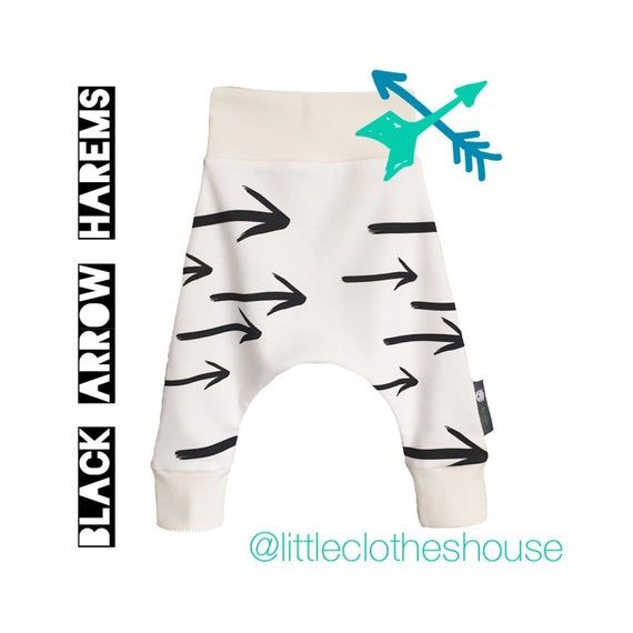Geometric Drop Baby and Toddler Harem Pants