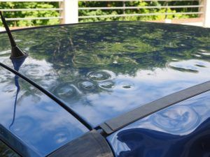 If your car has damage from a hail storm, an auto body shop can help you get your car looking new again. This website explains how the process works.  http://www.marinasgelato.com
