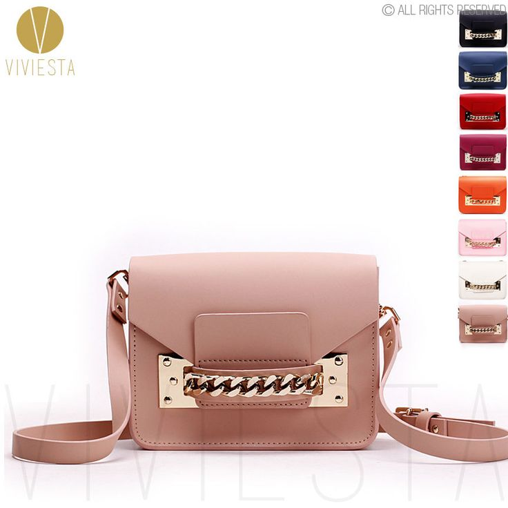 Women's Genuine Leather Mini Envelop Gold Chain Crossbody Shoulder Clutch Bag