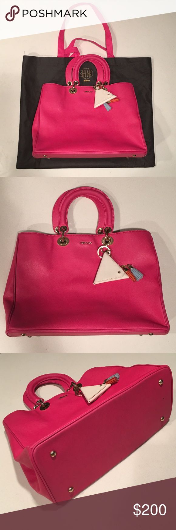 🌹GRAND SALE🌹NWOT! Morgan de Toi France Pink Bag NWOT! 100% Authentic! Brand New!! Real Leather! Comes with the coin pouch/keychain & dust bag! Morgan de Toi Bags Satchels