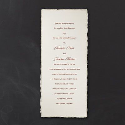 On The Edge Tea Length Ivory Wedding Invitation Http