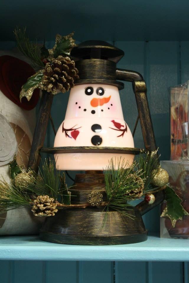 Snowman Lantern Pick-it-Fence Pembroke www.facebook.com/pickitfence