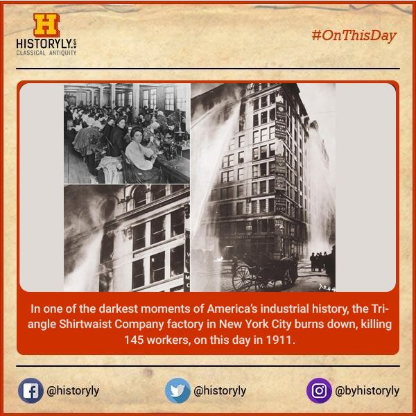 #OnThisDay 1911 Triangle Shirtwaist Fire in New York City. #History #NYC #
