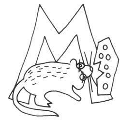 M - Mouse: Embroidery Applies, Letters Decorated, Alphabet Embroidery, Alphabet Projects, Decorated Letter