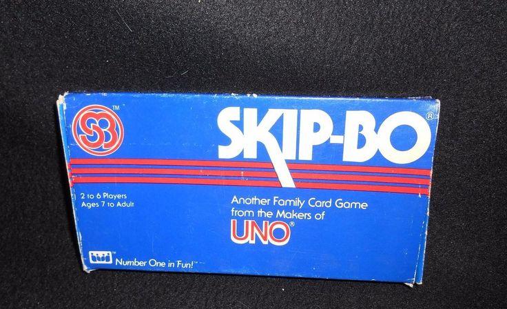 Skip Bo Card Game Vintage 1982 International Games Complete #InternationalGamesInc