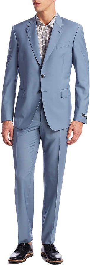 Paul Smith Men's Wool Solid Tailored Fit Notch Lapel Suit