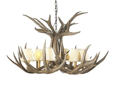 I would love something like this for Matthew's Man Cave...Deer Antler decor