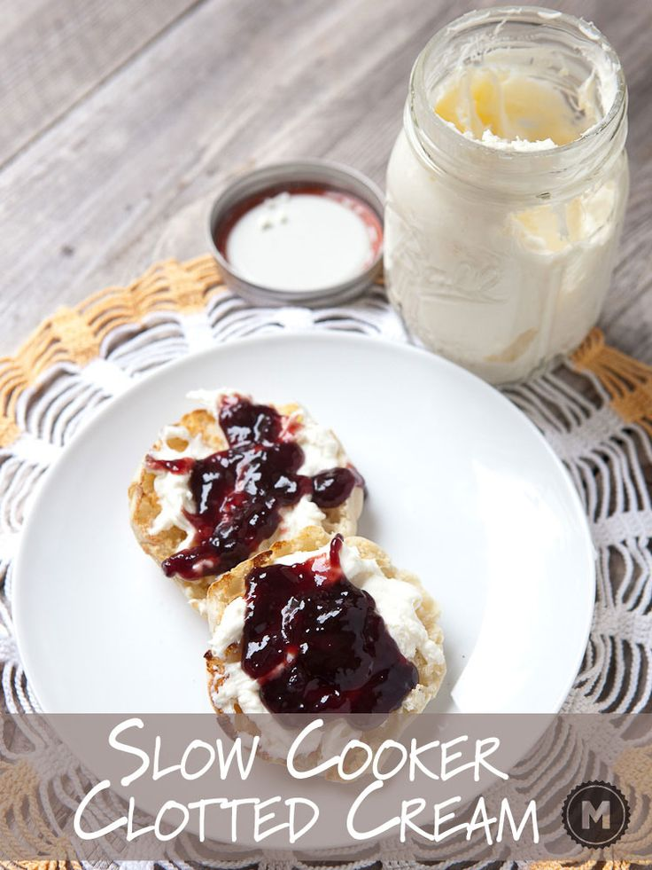 A common breakfast topping in the UK is clotted cream, but it's almost impossible to find in the US. Here's how to make your own in a slow cooker. Slather it on everything.