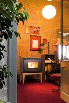 MCZ room heater that runs on wood pellets