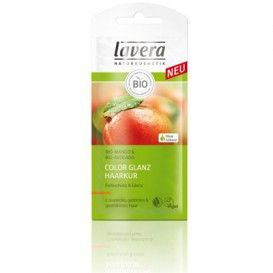 Masca de par organica Lavera Tratament de par Bio cu Mango - plic 25 ml - pret mic pentru calitate garantata!  Acest tratament bio Lavera contine lapte de mango, unt de cacao, unt de shea, ulei de jojoba, ulei de avocado, biotina si pro vitamina B5
