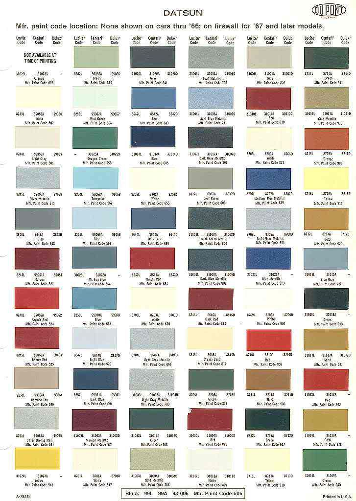 17 Best images about auto paint color charts on Pinterest ...