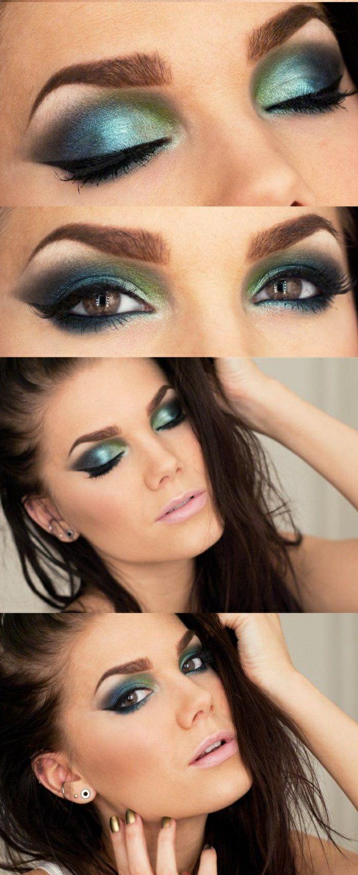 Plus de 1000 id es propos de maquillage yeux marron sur pinterest - Maquillage simple yeux marrons ...