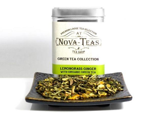 Lemongrass Ginger Green Tea - Loose Tea - Organic Green Tea by Nova Teas on Gourmly
