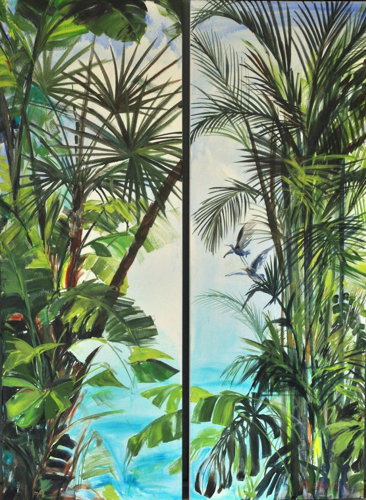 Sophie's Tropical dream - Diptych Acrylic 500X1500