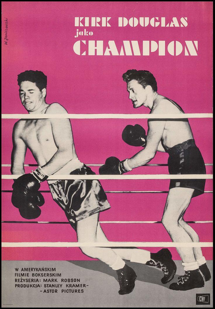 Champion (Mark Robson, 1949) Polish design by Wadyslaw Janiszewski