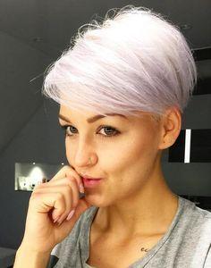 Short White Blonde Hairstyle