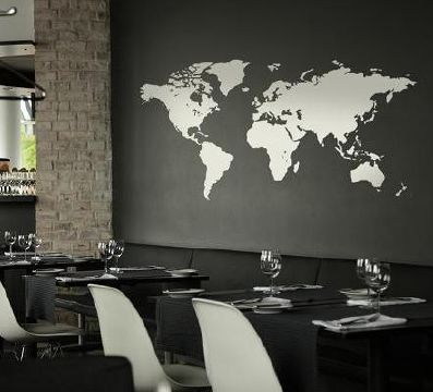 muursticker wereld kaart