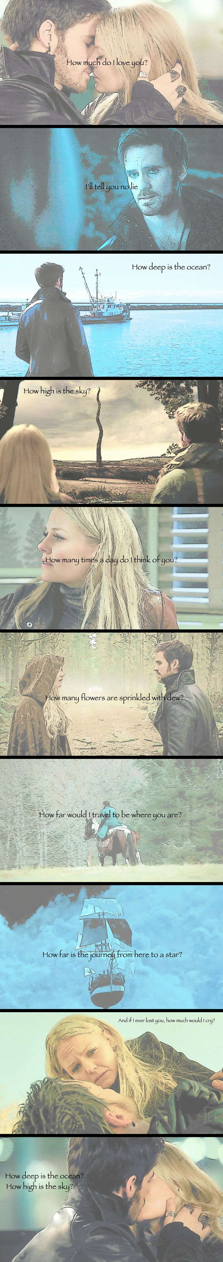 Emma and Killian - How Deep Is The Ocean - these are from my tumblr. I am so flattered somebody pinned them :)<<somebody has a great deal of talent!